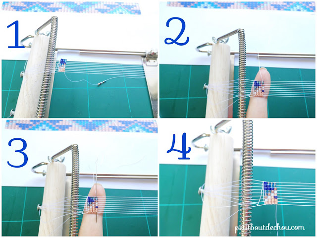 beading with a loom step by step
