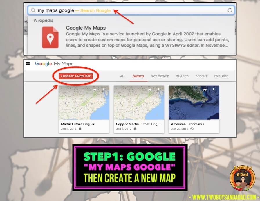 creating a map in Google Maps
