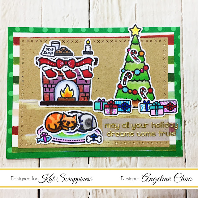 ScrappyScrappy: Christmas Dreams with Kat Scrappiness #scrappyscrappy #katscrappiness #lawnfawn #lawnfawnatics #christmasdreams #christmas #christmascard #card #cardmaking #copicmarkers #papercraft #katscrappinessdie #spectrumnoir #scanncut
