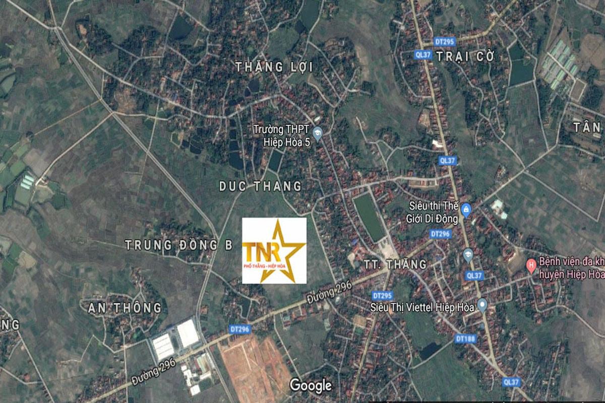 Vị trí dự án Tnr Stars Hiệp Hòa Bắc Giang