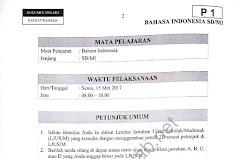Soal Ujian Sekolah Naskah Asli dari Tahun 2009 US/M
