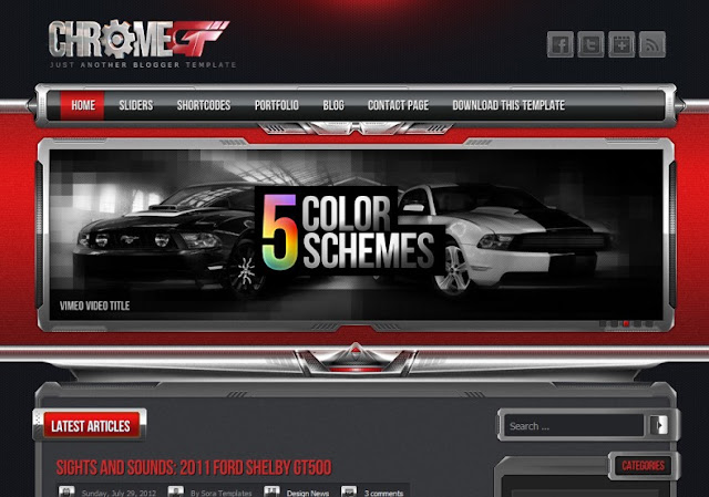 ChromeGT Red Blogger Template