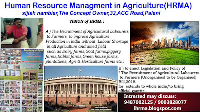 Human Resource Management in Agriculture-HRMA. (Agriculture Labour Recruiting to Farmers).