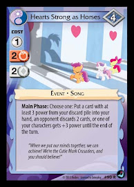 MLP Hearts Strong as Horses High Magic CCG Card