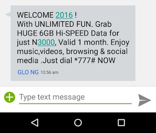 Get Glo 6gig For 3000naira here