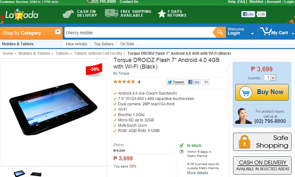 Torque DROIDZ Flash - Lazada Philippines