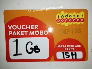 Voucher Kuota Internet Indosat 1GB 15 Hari