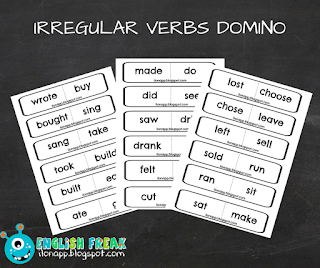 Irregular verbs domino czasowniki nieregularne