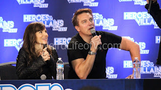 Christina Wren and John Barrowman play Super Charades