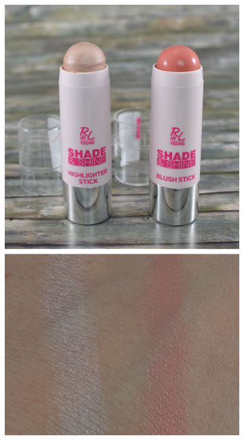 Rival de Loop Young shade & shine LE highlighter und blush stick mit Swatches