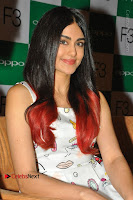 Bollywood Actress Adah Sharma Pos in White Printed Short Dress at OPPO F3 Plus Selfie Expert Mobile Launch .COM 0011.jpg