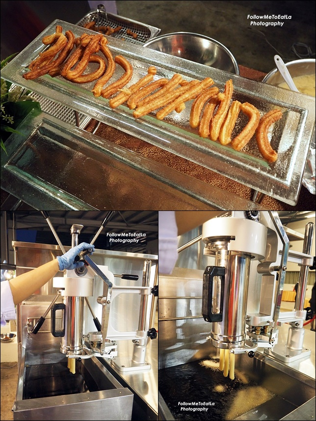 Churros 'LIVE' Cooking Station Serve with Thick Chocolate Sauce, Assorted Sugars & Sprinkles