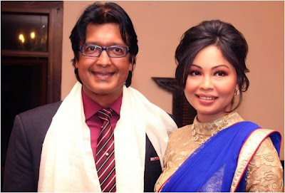 Image result for rajesh hamal with wife