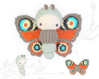 amigurumi insect butterfly crochet pattern