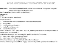 Format Laporan Akhir Pembekalan/prakondisi PLPG 2017