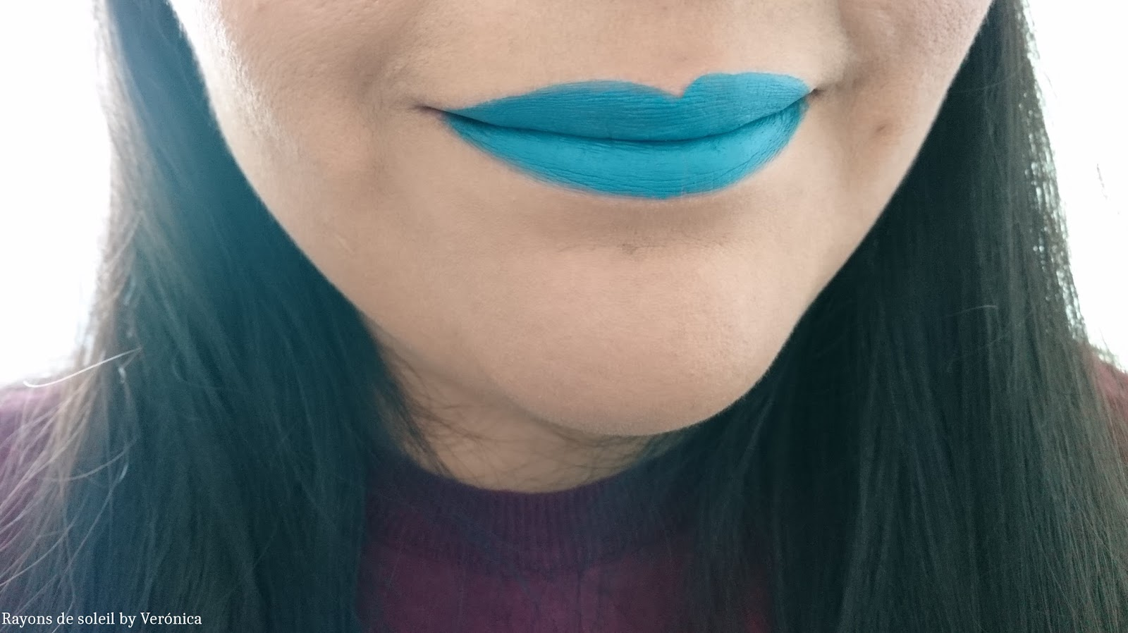 NYX Liquid Suede Cream Lipstick Disruptive/Perturbateur on lips light