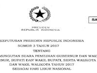 Unduh SE Keppres 15 Februari 2017 Sebagai Libur Nasional