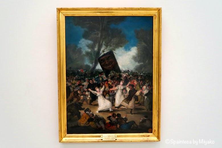 El Entierro de la Sardina ゴヤの作品 鰯の埋葬 (1812-1814)