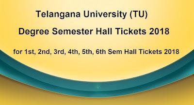 TU Degree Semester Hall Tickets 2018 Download
