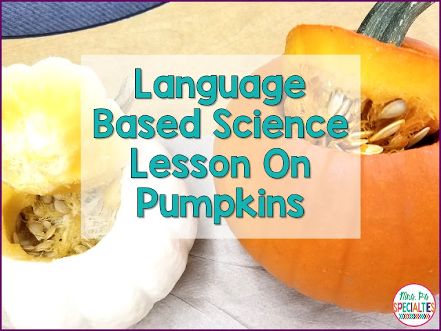 Fall is the perfect time to integrate science and language skills into one lesson. Build on background knowledge with this pumpkin compare and contrast lesson. All you need is an orange pumpkin, a white pumpkin.... no prep!!