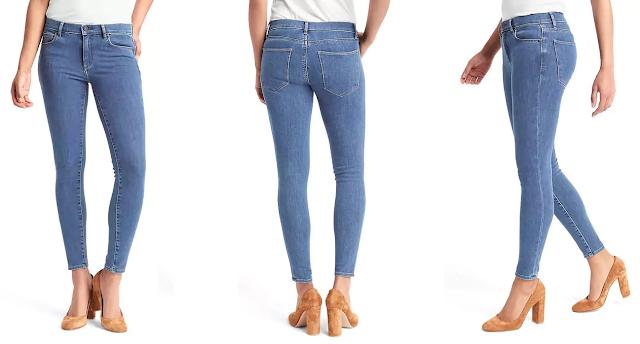 Gap Mid Rise True Skinny Ankle Jeans $29 (reg $90)