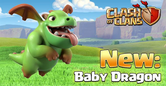 New troops in coc, baby dragon