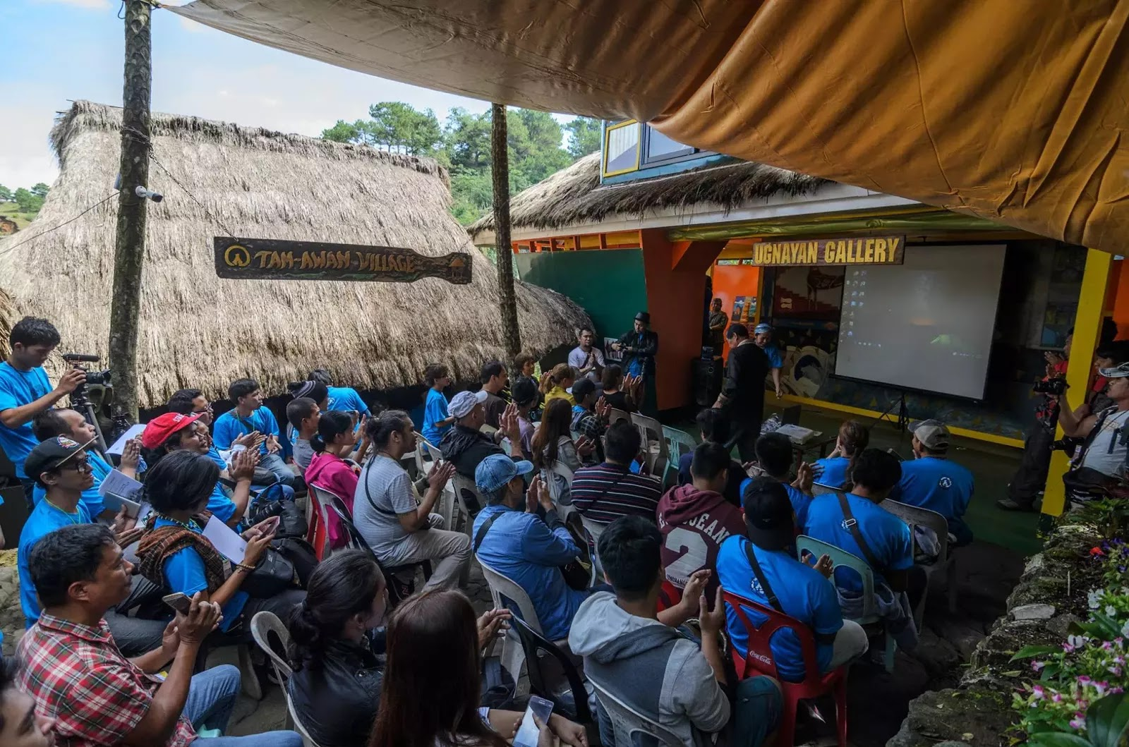 International Arts Festival 8th Tam-awan Baguio City Philippines Keeping the Stones Rolling Opening Ceremonies Audience
