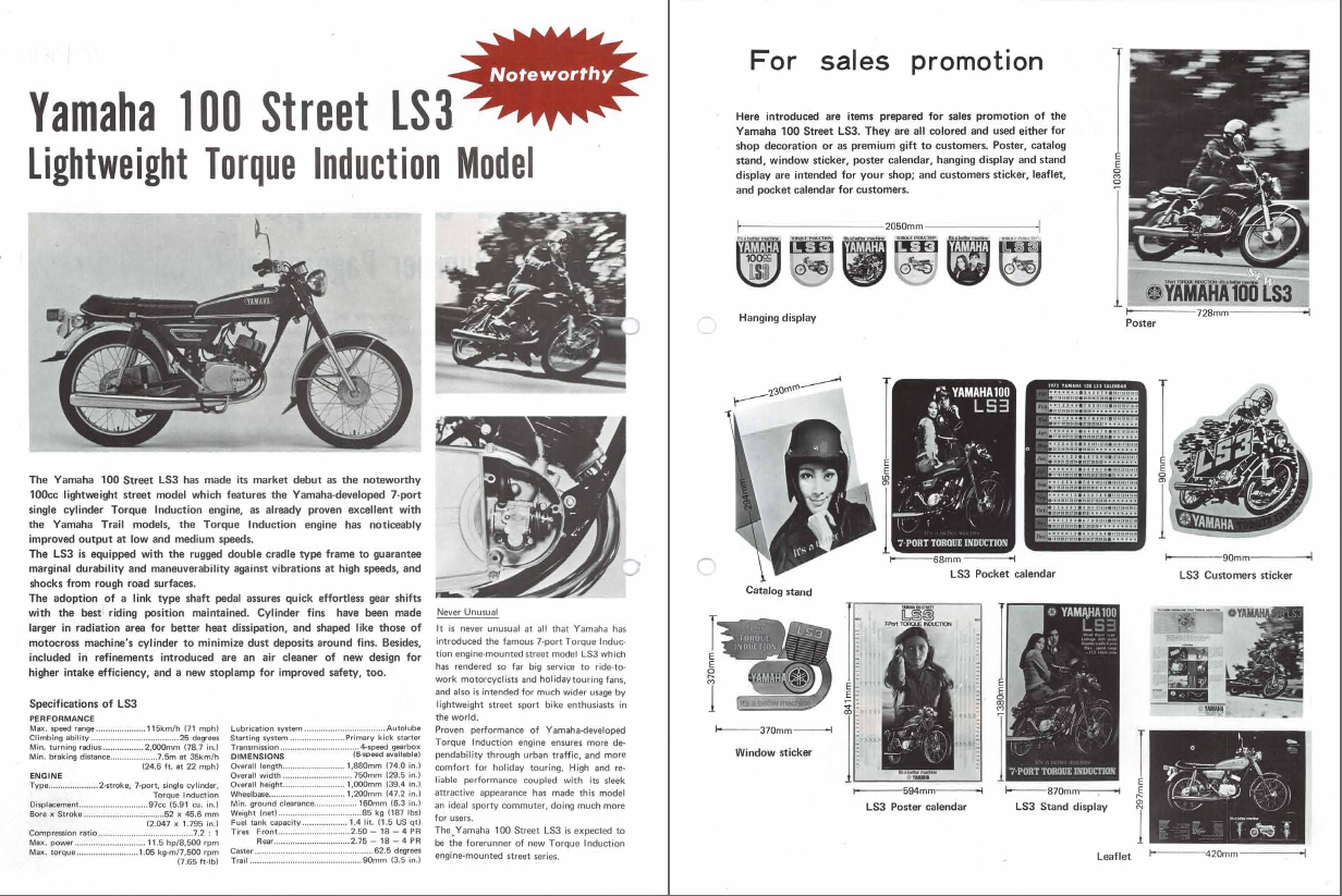 restoration yamaha ls3 1972  specifications  media and