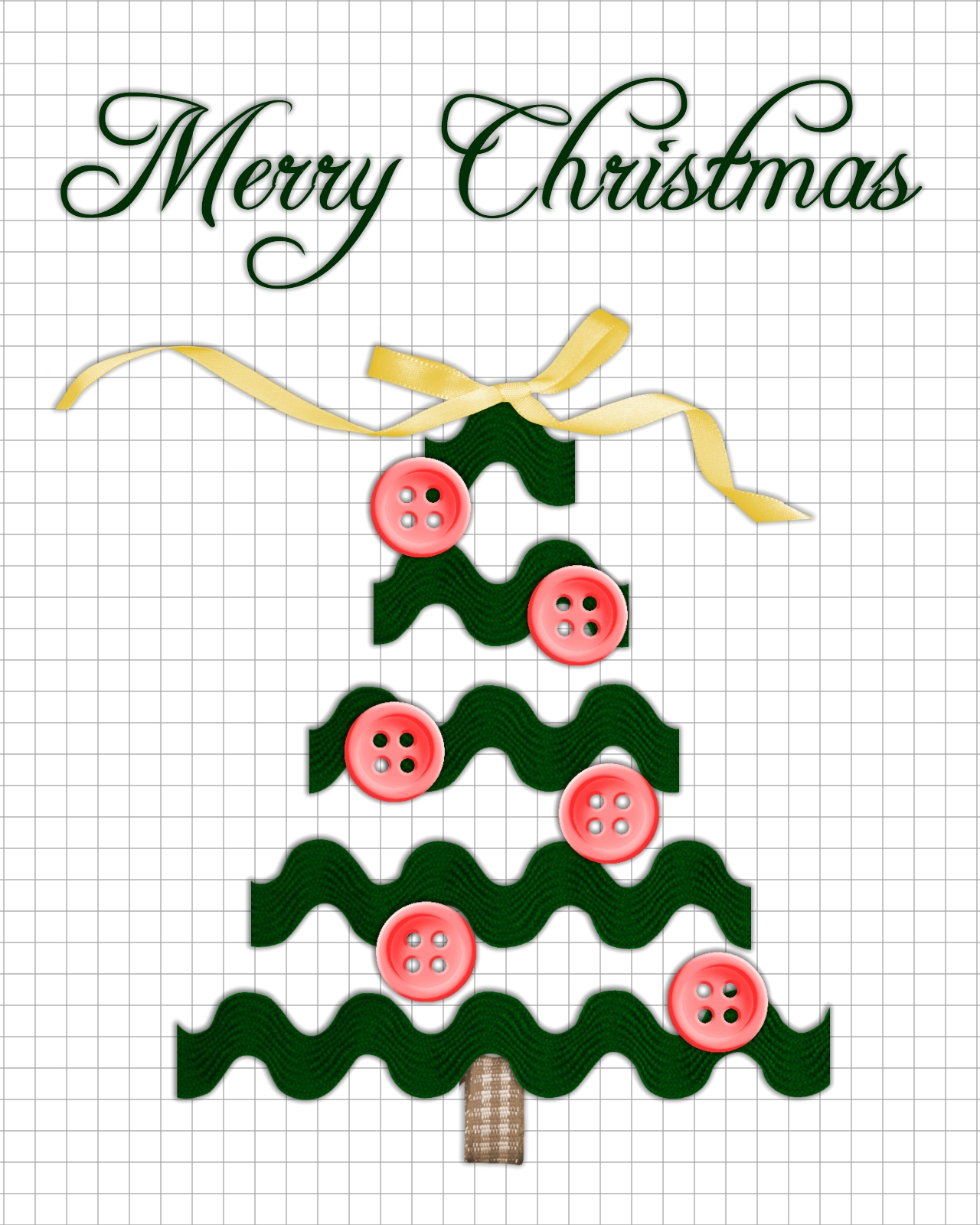 Agape Love Designs Free Ric Rac Christmas Tree Printables