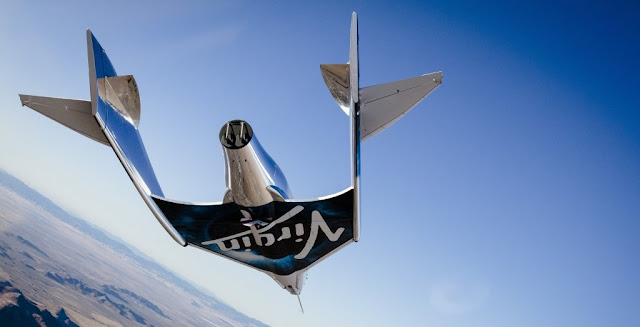 VSS Unity, Virgin Galactic's suborbital spacecraft, conducts its first glide flight on Dec. 3, 2016. Image Credit: Virgin Galactic
