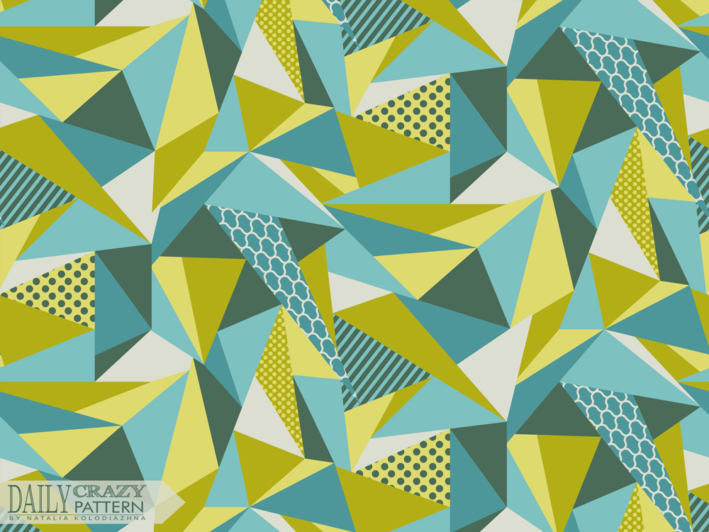 "Low poly art print for ""Daily Crazy Pattern"" project"