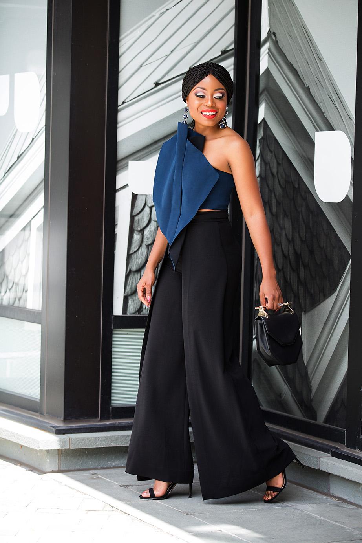 aqaq crop top and high-waist trouser, www.jadore-fashion.com