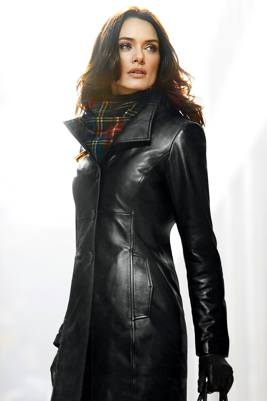 Leather Coat Daydreams: The resplendent lady in a leather coat as ...