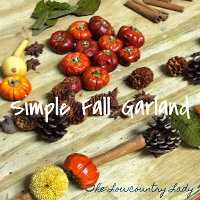 Cutest little Simple Fall Garland made from a bag of potpourri | The Lowcountry Lady