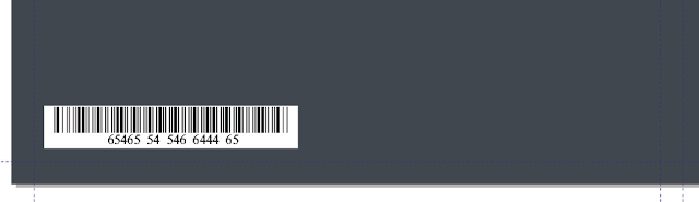 Cara Membuat Desain Cover Buku dengan CorelDRAW X4, barcode di coreldraw