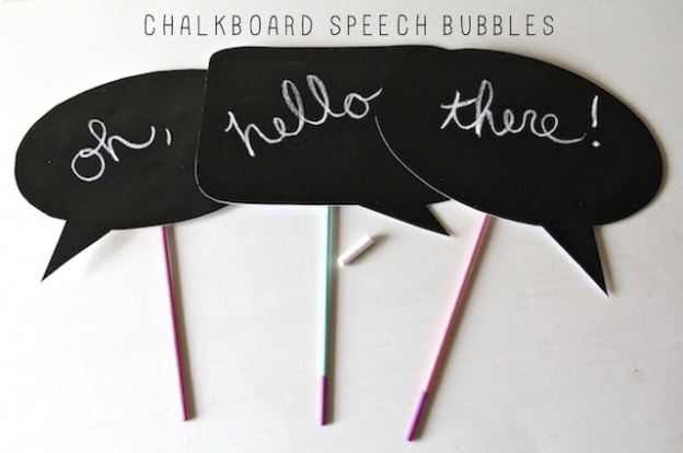 speech bubbles, party, diy party, party ideas, diy projects, do it yourself projects, diy, diy crafts, diy craft ideas,