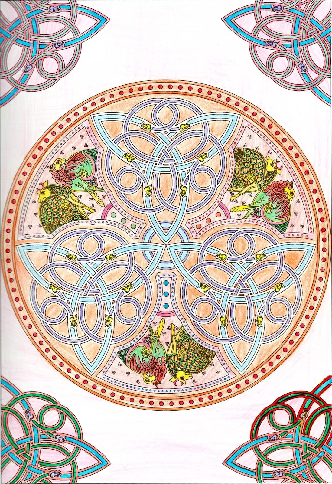 Coloriage Anti Stress Celtique.Coloriage Celtique