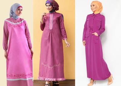 Contoh Baju Muslim Katun Polos