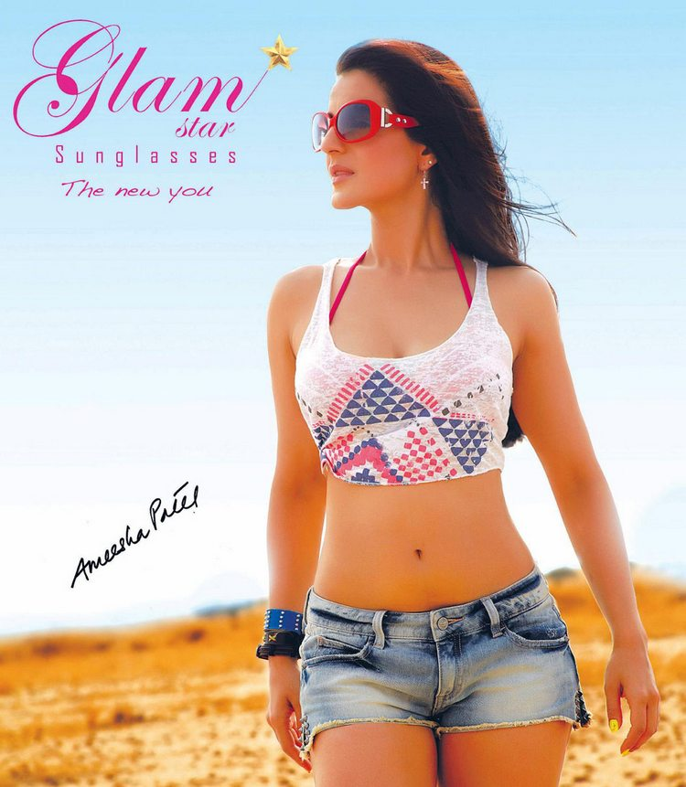 Ameesha Patel Hot and Sexy Poses for Glamstar Sunglasses