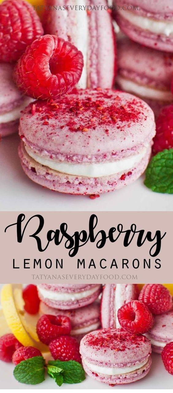 Raspberry Macarons With Lemon Buttercream