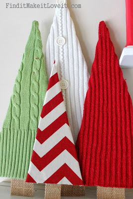 rustic christmas decorating ideas sweater trees