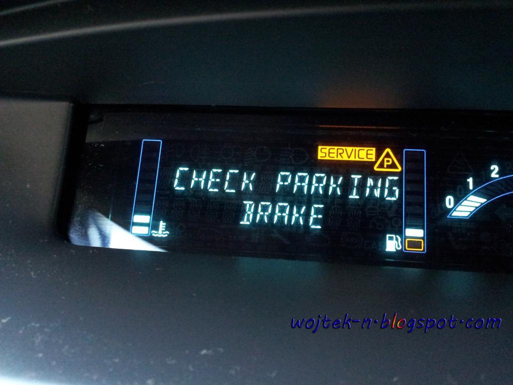wojtekn: Clutchparking sensor problemerror in Renault Grand Scenic  check parking brake