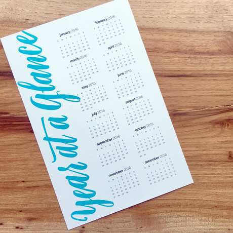 day at a glance calendar template - snc 39 s freebies 2016 year at a glance free