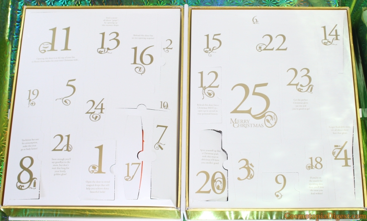 LookFantastic Beauty Secret Advent Calendar 2015 Review, Unboxing and Contents
