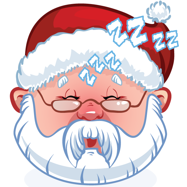 Sleepy Santa Emoticon