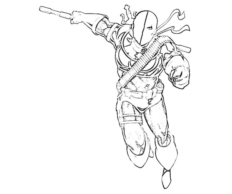coloring pages of deathstroke costume   Deathstroke printable for the kiddies to colour ...