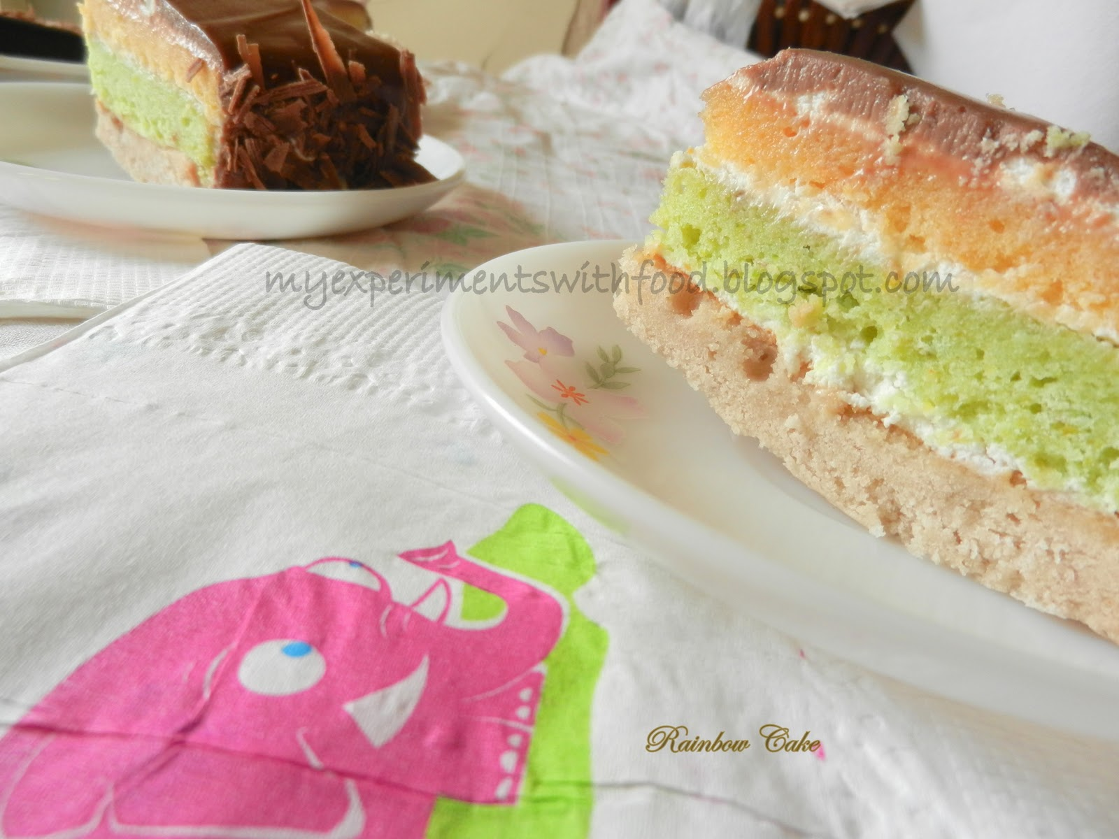 Rainbow Cake Recipe Joy Of Baking: My Experiments With Food: Joan's Rainbow Cake