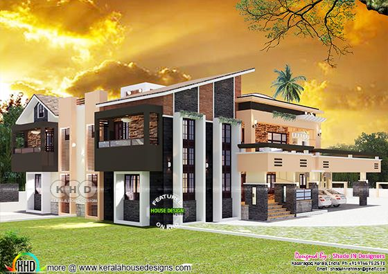 Ultra modern contemporary style 5 bedroom house