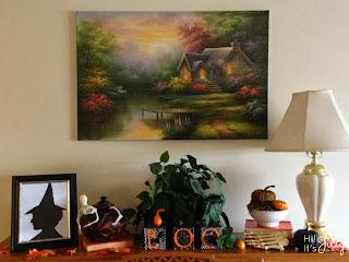 Framed Burlap Pumpkin Tutorial and Fun Fall Decor from Hi! It's Jilly