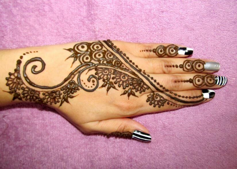 Mehndi Designs For One Hands : 100 latest mehndi designs for girls simple & easy 2018 page 4